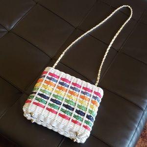 Vintage Wicker Shoulder Bag